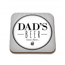 Dad's Beer Square Coaster