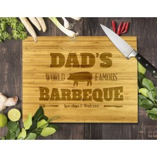 Dad's Famous Barbeque Bamboo Cutting Board