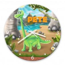 Dinosaur Glass Wall Clock