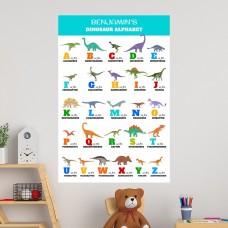 Dinosaur Alphabet Educational Wall Decal