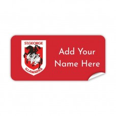 NRL Dragons Rectangle Name Label