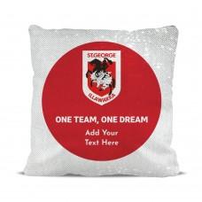 NRL Dragons Magic Sequin Cushion Cover