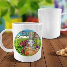 Easter Bunny White Plastic Mug
