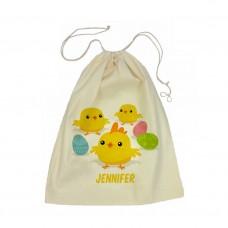 Easter Chicks Drawstring Bag