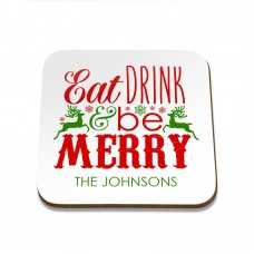 Eat Drink Square Coaster