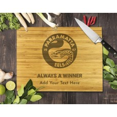 NRL Eels Bamboo Cutting Board