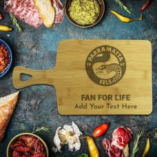 NRL Eels Rectangle Bamboo Serving Board