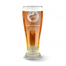 NRL Eels Christmas Premium Beer Glass