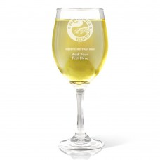 NRL Eels Christmas Wine Glass