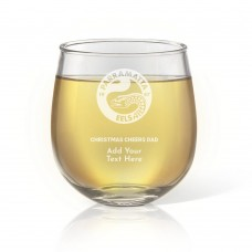NRL Eels Christmas Stemless Wine Glass