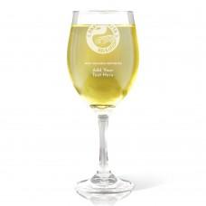NRL Eels Engraved Wine Glass