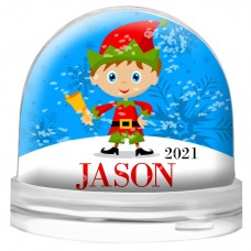 Elf Snow Globe