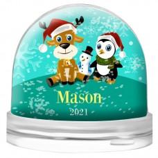 Family Snow Globe