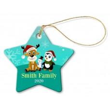 Family Star Porcelain Ornament