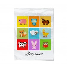 Farm Animal Collage Blanket