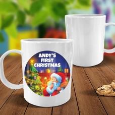 First Christmas White Plastic Mug