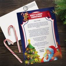 First Christmas Santa Letter