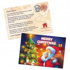 First Christmas Santa Postcards