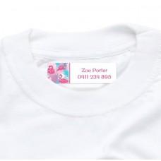 Flamingo Iron On Clothing Label