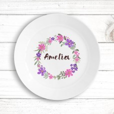 Flower Wreath Kids' Plate