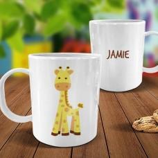 Giraffe White Plastic Mug