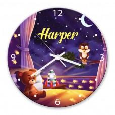 Goodnight Glass Wall Clock