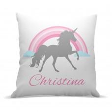 Grey Unicorn Premium Cushion Cover