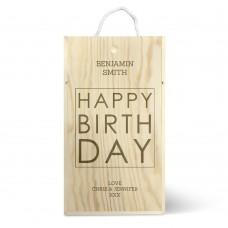 Happy Birthday Double Wine Box