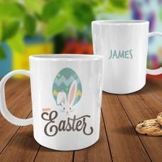 Happy Easter White Plastic Mug
