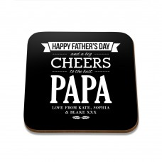 Happy Father's Day Square Coaster
