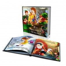 "Personalized Story Book: ""Visits Santa's Workshop"""
