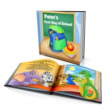 "Personalised Story Book: ""Peacock's First Day of School"""