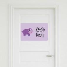 Hippo Door Sign