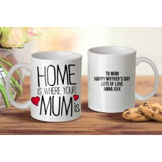 Home Is Where Mum Mug
