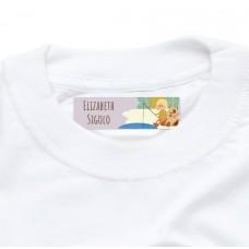 My Adventure - Fishing Girl Iron On Clothing Label