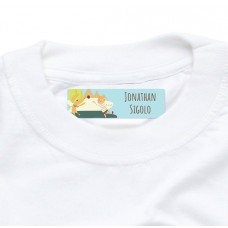 My Adventure - Playing Ball Boy Iron On Clothing Label