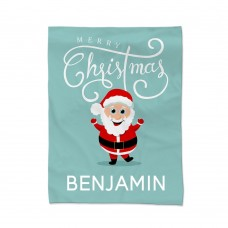 Jolly Santa Blanket