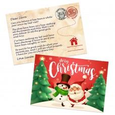 Jolly Santa Postcard