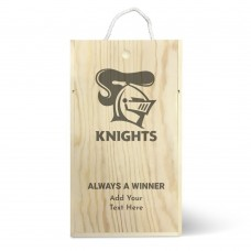 NRL Knights Double Wine Box