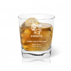NRL Knights Christmas Tumbler Glass