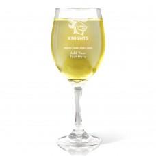 NRL Knights Christmas Wine Glass