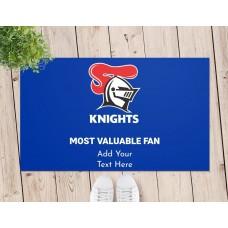 NRL Knights Door Mat