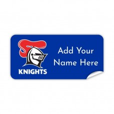 NRL Knights Rectangle Name Label