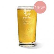 NRL Knights Pint Glass