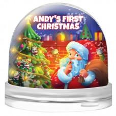 First Christmas Snow Globe