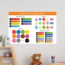 Learning Chart Educational Wall Decal