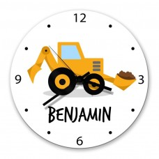Little Digger Glass Wall Clock