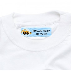 Yellow Digger Iron On Clothing Label