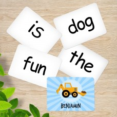 Yellow Digger Sight Word Cards