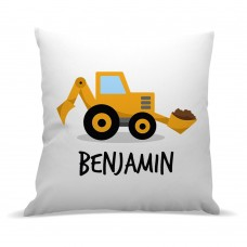 Yellow Digger Premium Cushion Cover